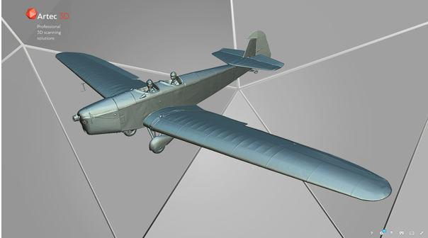 Artec Ray 3D Scan aircraft