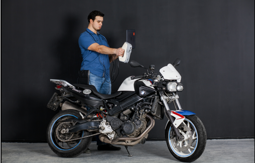 3D Scanning a motorcycle